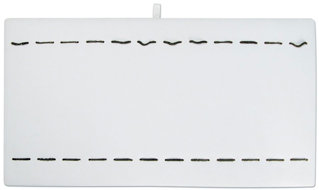 White Leatherette Bracelet Watch Tray Pad