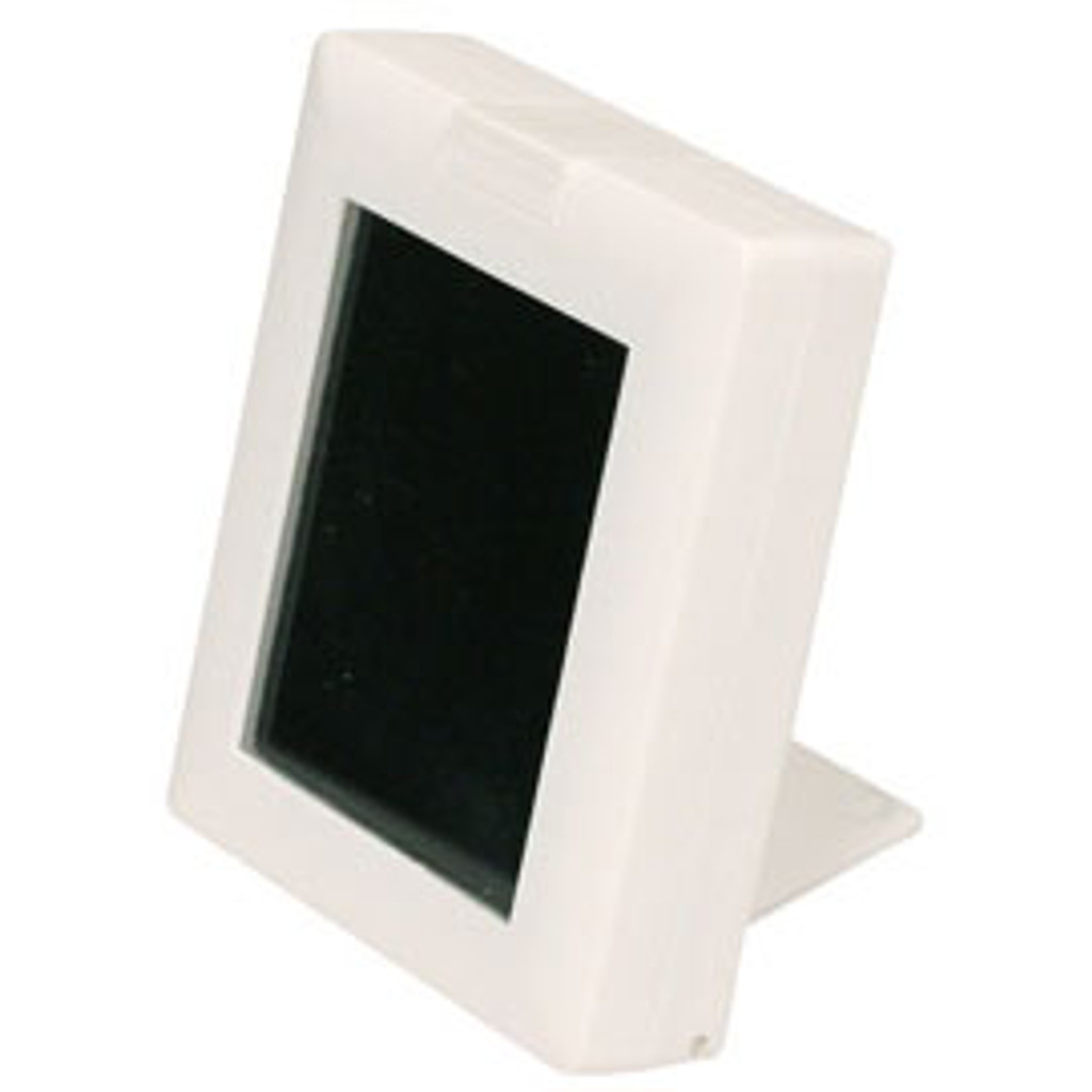 """White Glass Top Gemstone Display Box with Easel , Reversible Insert,2 7/8"""" x 2 1/4"""" x 5/8""""H"""