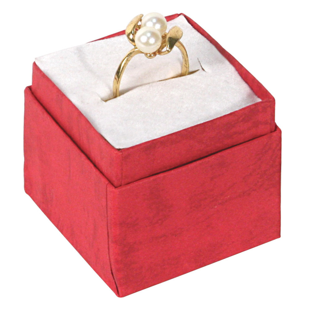 "Ring Box, 1 3/4"" x 1 3/4"" x 1 5/8""H, Pastel, 5 Assorted Color, Price for 100 Pieces."
