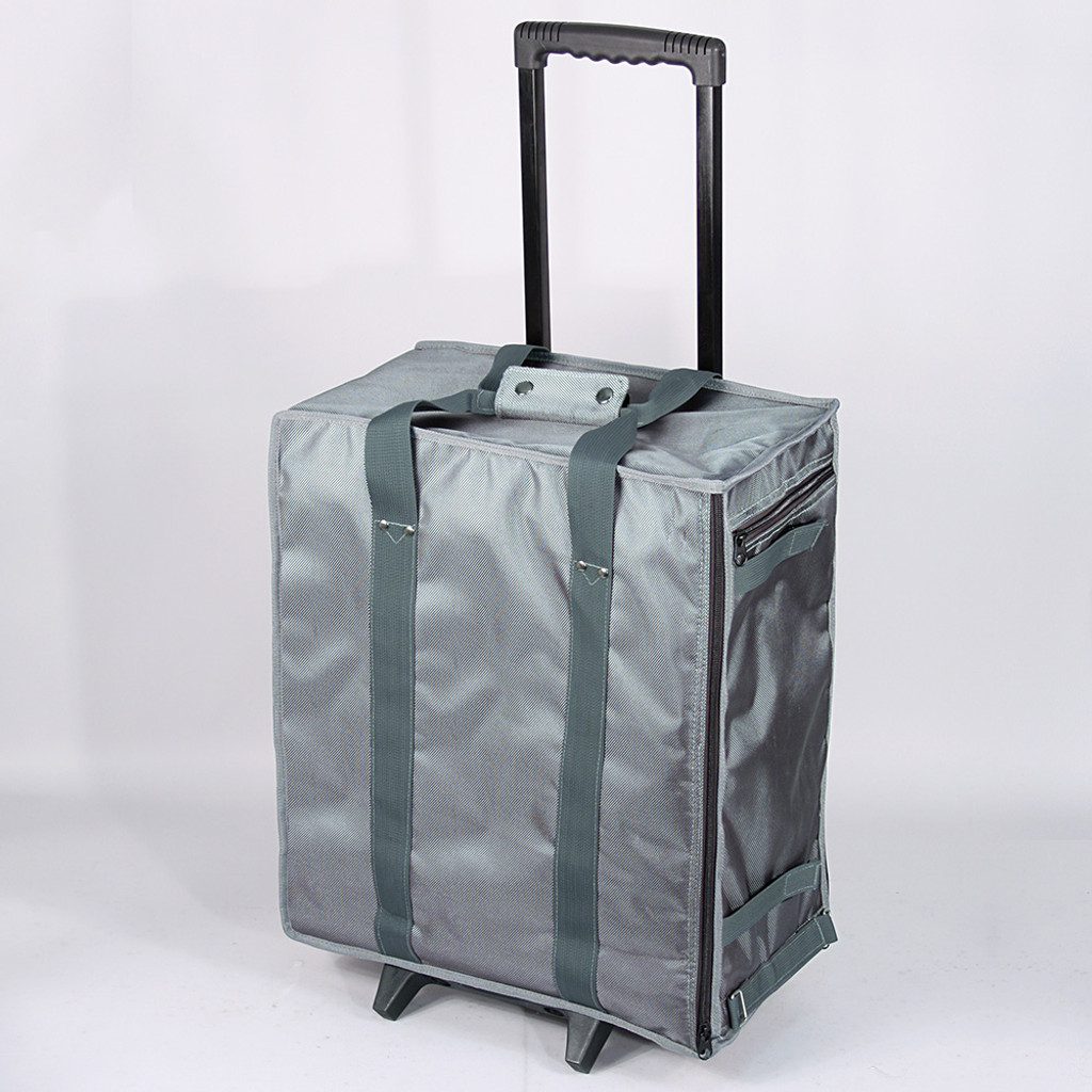 "Soft PVC carrying case w/handle - Grey, 16"" x 9"" x 19""H"