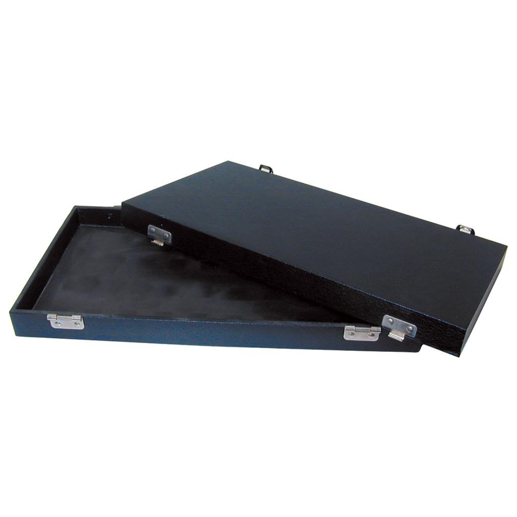 Leatherette Case,Black, Double Clasp Lid Case