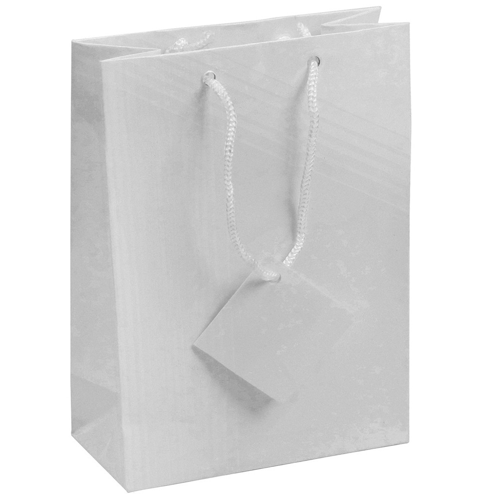 Tote Gift Bag , White Glossy, (Choose from various sizes),Price for 20 pieces