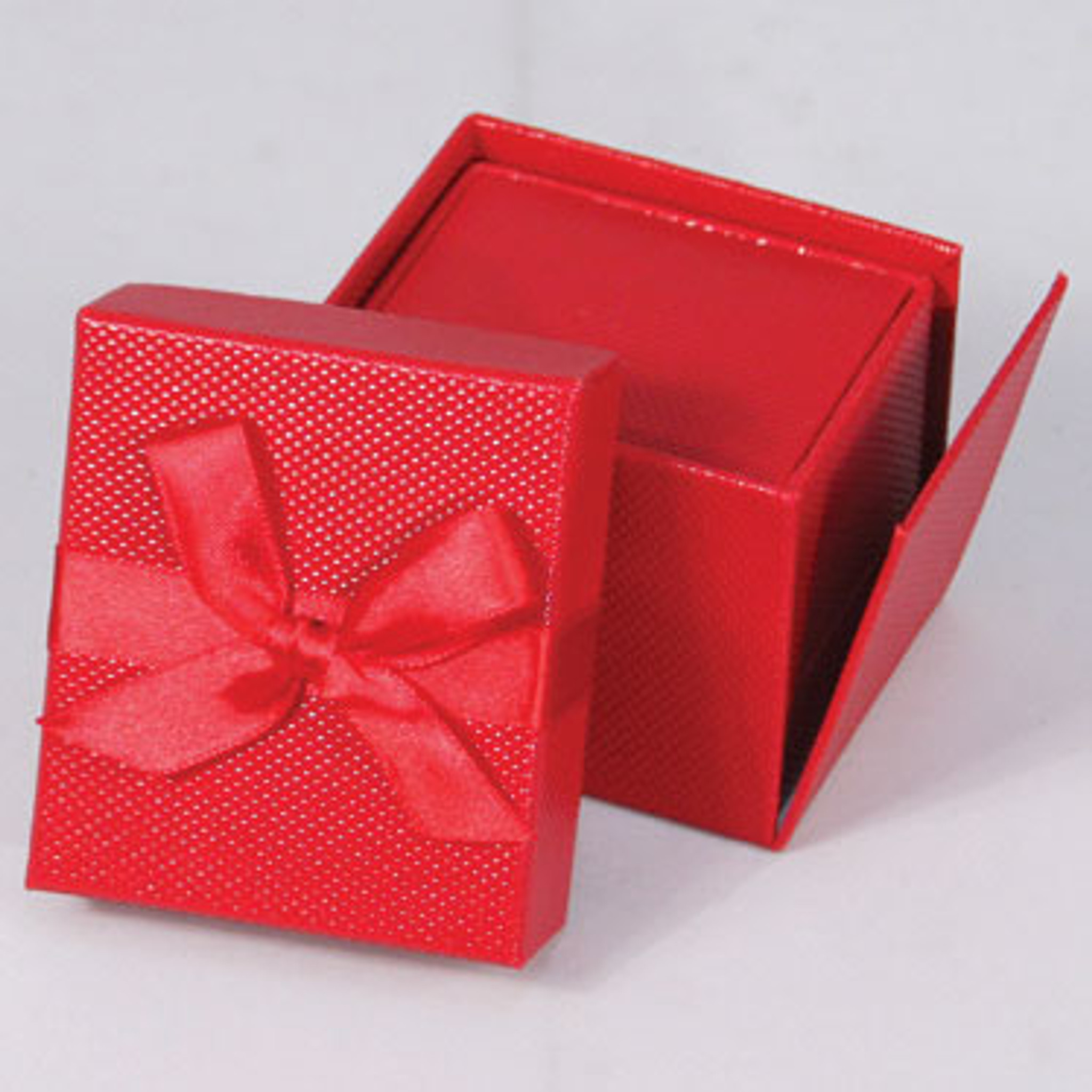 elegant ring box with ribbon choose from various colors eds box