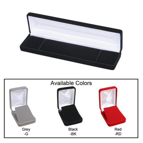 "Velvet Metal Bracelet Box , 8"" x 2"" x 1 1/8""H ,  Choose from various Color"