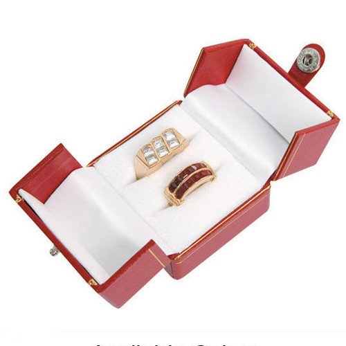 "Classic Style Wedding set Box, 2"" x 2 1/8"" x 1 3/4"" , Choose from various Color"
