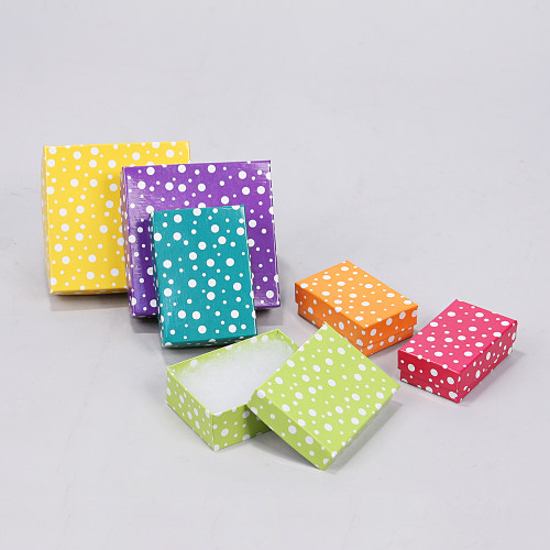 Polka Dot contton Filled Box, 6 mix color (Choose from various sizes), price for 100 pcs