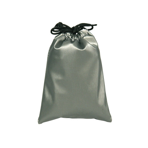 "1 3/4"" x 2"",Steel-Grey Leather Drawstring Pouch,price for Dozen,Buy More Save More"