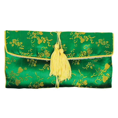 """Silky Travel Jewelry Rolls, 11"""" x 8 1/8"""" , Mix 6 Color, price for 6 pieces"""