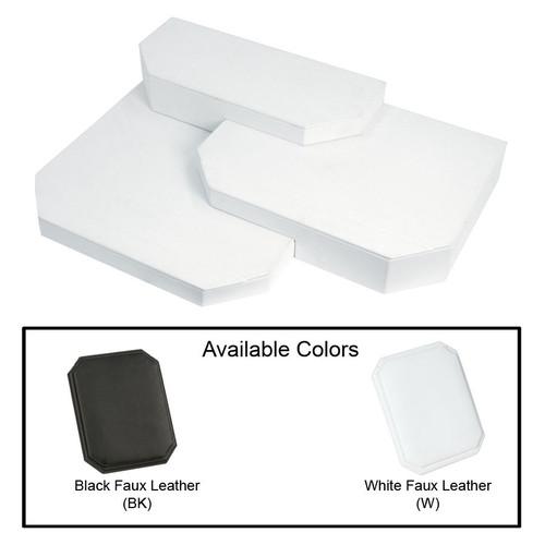 """3-Pieces Leather Base Set, 18 1/2"""" x 14"""" x 3 7/8""""H"""
