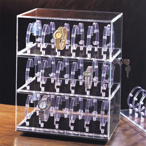"36-Watches Acrylic Display, 12"" x 8 1/2"" x 15 1/4""H"