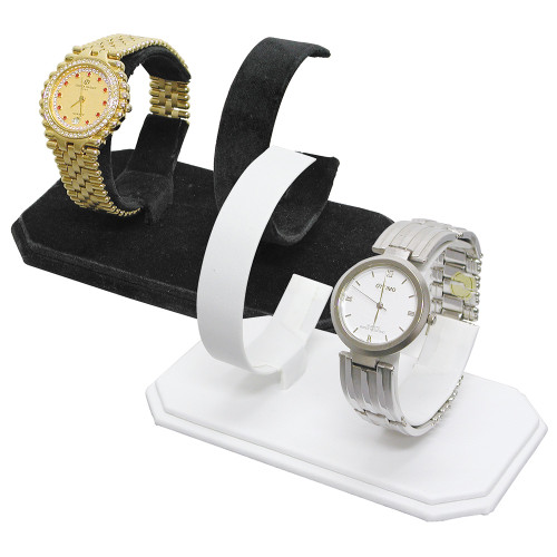 """Double Watches Display, 5 3/8"""" x 3"""" x 3 3/8""""H,,Choose from various color"""