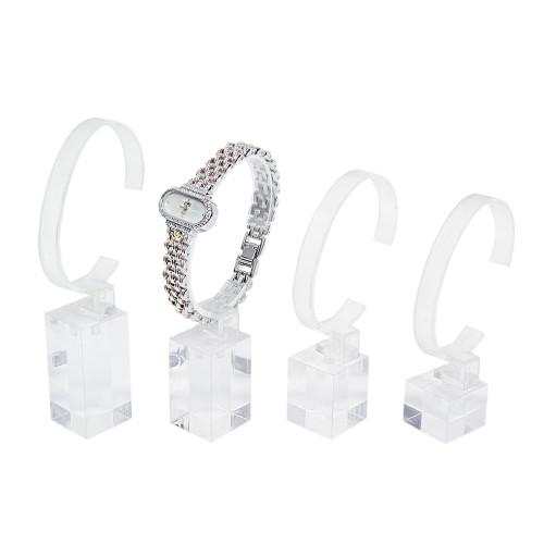 "Clear  Acrylic Display 4-pieces Set, 1"" x 1"" x 3 3/4"" , 4 1/8"" , 4 1/2"" , 5""H"