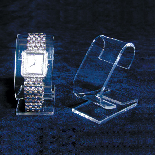 "Clear Acrylic Single Watch Stand, 1 3/8"" x 2 1/4"" x 3 1/8""H"