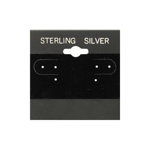 "Hanging Earring Card (Sterling Silver BX573-S) 2""x 2"""