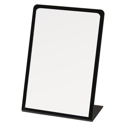 "Black Acrylic Frame Glass Mirror, 7 7/8"" x 11 1/2""H"