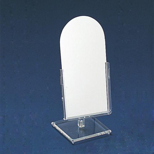 "Glass Mirror, 6 1/4"" x 14 1/2""H"