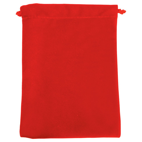 """4"""" x 5"""", Deluxe Red Velvet Drawstring Pouches, price for Dozen,Buy More Save More"""