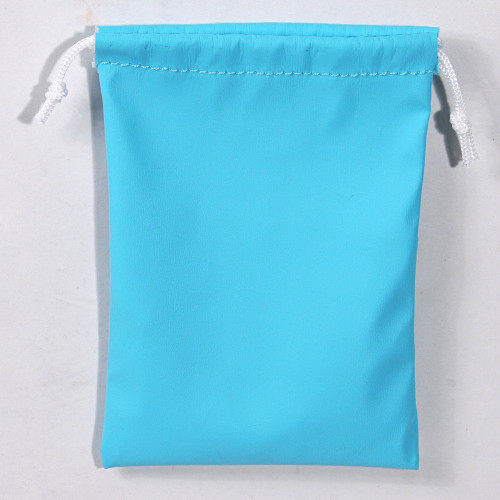 """3"""" x 4"""",Turquoise Leather Drawstring Pouch, price for Dozen,Buy More Save More"""