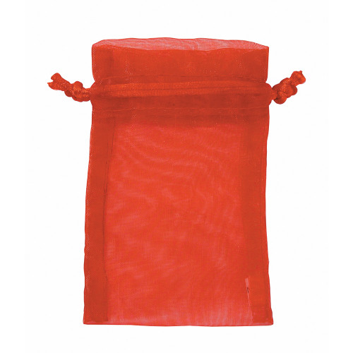 """3"""" x 4"""", Red Organza Drawstring Pouches, price for Dozen,Buy More Save More"""