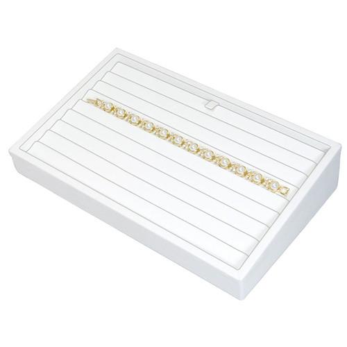 """2"""" H Slanted Bracelet Tray,  9"""" x 6"""" x 2 1/4"""" H TY-2103 (W)"""