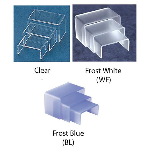 """3Pcs-Acrylic Riser, 2.75"""" x 2"""" x 1.25""""H,3.25"""" x 2"""" x 1.75""""H,3.75"""" x 2"""" x 2.25"""", 1/8"""" Thick"""