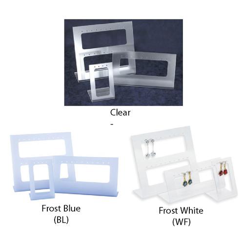 """Acrylic 17-Pr. Earring Display , 3pcs/set, 6"""" x 5 1/4""""H , 2 1/8"""" x 3 3/8""""H, 6"""" x 2 3/4""""H"""