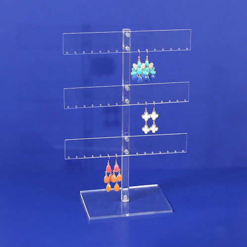"""Acrylic 21-Pr. Earring Display, 8"""" x 4"""" x 11 3/4""""H,Assemble Required"""