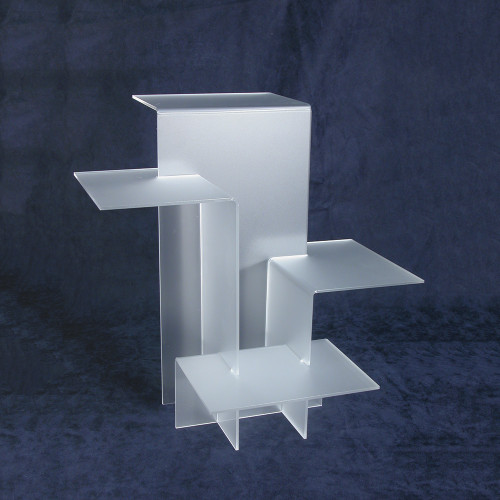 """4-Tier Acrylic Display Stand (Frost), 11"""" x 11 1/2"""" x 11 1/2""""H, Assemble Required"""