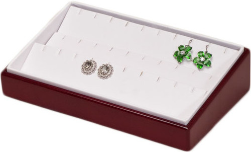 "2"" H Slanted Earring Tray,  9"" x 6"" x 2 1/4"" H"