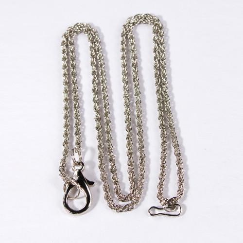 """Loupe Chain, 30"""" L, Silver-Color"""