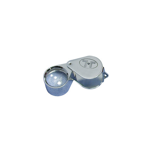 Glass Lens Loupe, 12 mm 5 Elements, 20 x, Silver