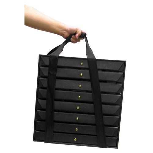 "Travel Storage Organize with Tray, 16"" x 9"" x 15 3/4""H, With 8 pcs 1 1/2""H Tray"