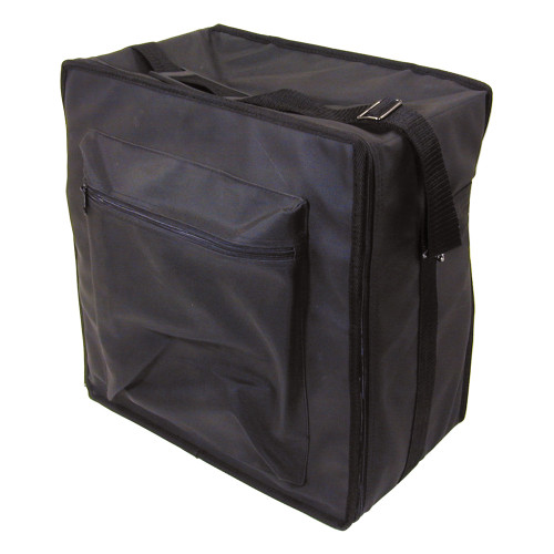 """Premium Fabric Carrying Case with Shoulder Strap- Black, 16"""" x 9"""" x 16""""H, Hold 15 pcs Stander Tray"""