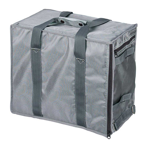 """Premium Fabric Carrying Case with Shoulder Strap-Grey , 16"""" x 9"""" x 13 1/2""""H, Hold 12 pcs Stander Tray"""