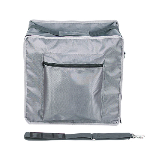 """Premium Fabric Carrying Case with Shoulder Strap- Grey, 16"""" x 9"""" x 16""""H, Hold 15 pcs Stander Tray"""