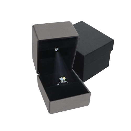"LED Light Ring box- Grey,  2 1/8"" x 2 1/2"" x  2""H"