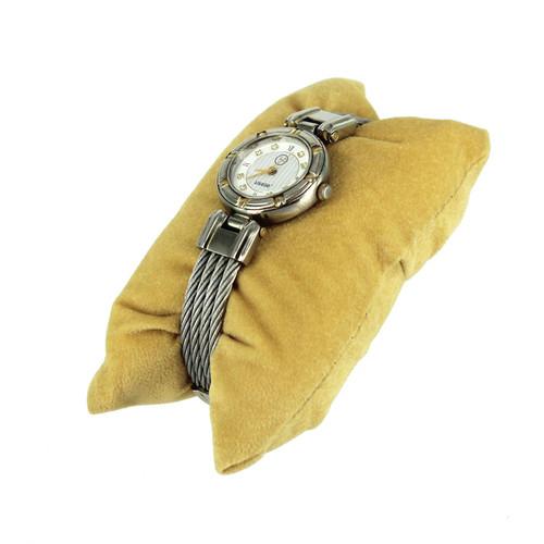 """Pillow 4 1/4"""" x 2 1/8"""" x 1 1/4""""H, color Tan"""