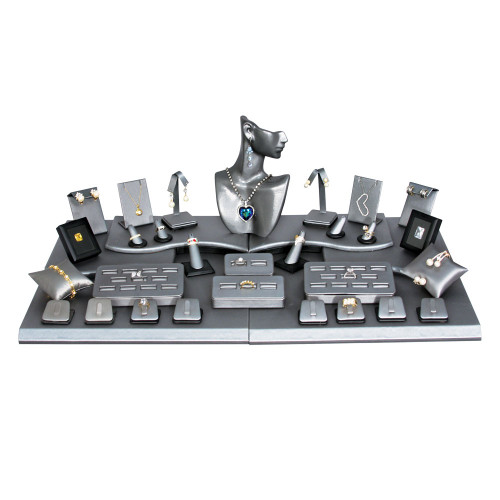 Steel Grey with Black Trim 35-Piece Display Set (SET80-87R)