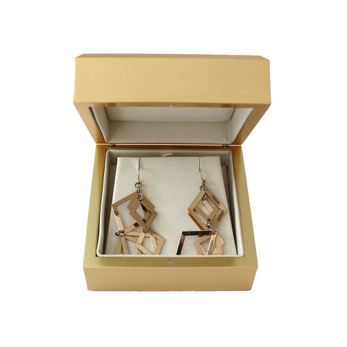 Elegant Gold Earring-Pendant Box (AAE5-GD)