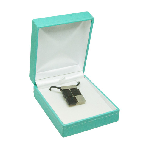 Teal Blue Leatherette Jewelry Boxes