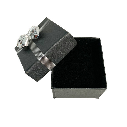 10 x Silver Bow Tie earring boxes
