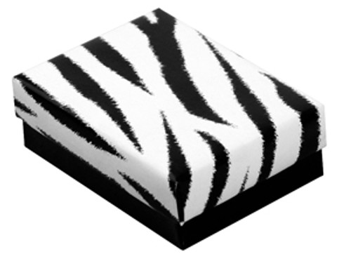 Zebra Cotton Filled Boxes (Choose from various sizes) price for 100 pcs