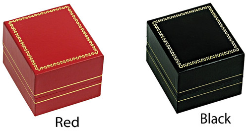 "LE3 Classic Style Earring Box, 1 3/4"" x 2"" x 1 1/2"" , Choose from various Color"