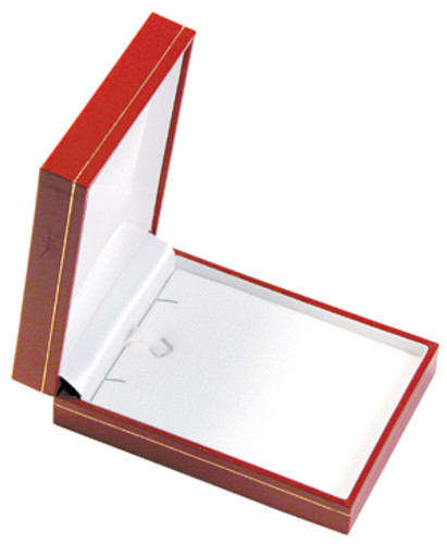 "LP10 Classic Style Earring/Pendant Box, 2 3/4"" x 3 7/8"" x 1 3/16"" ,  Choose from various Color"