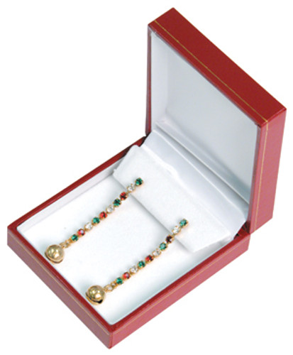 "Classic Style Earring Box, 2 5/8"" x 3 1/8"" x 1 1/8"" ,  Choose from various Color"