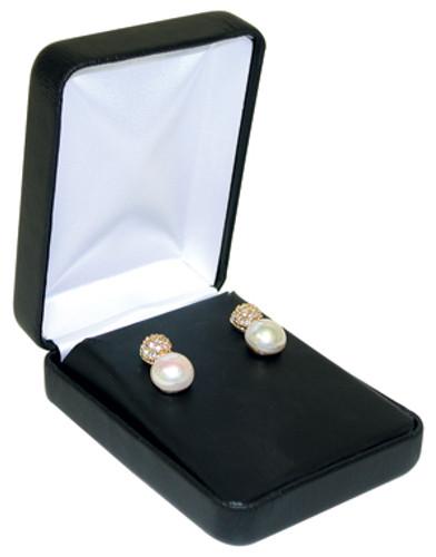 "VE7 Faux Leather Metal Earring Box,2-Piece Packer, 2 1/4"" x 3"" x 1 1/4"""