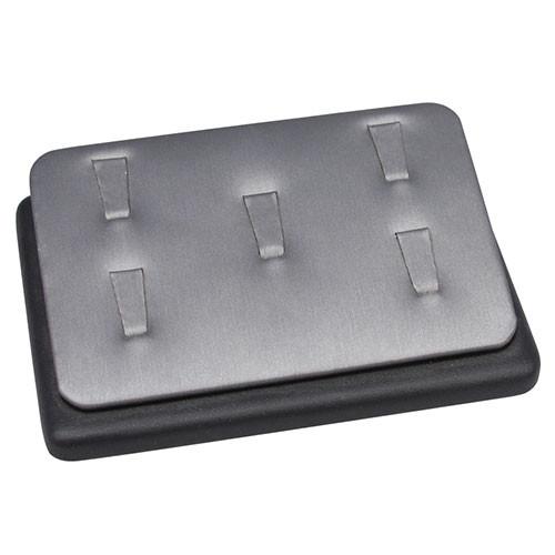 Steel Grey 5-Ring Clip Display