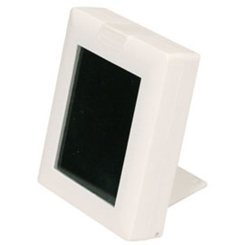 "White Glass Top Gemstone Display Box with Easel , Reversible Insert,2 7/8"" x 2 1/4"" x 5/8""H"