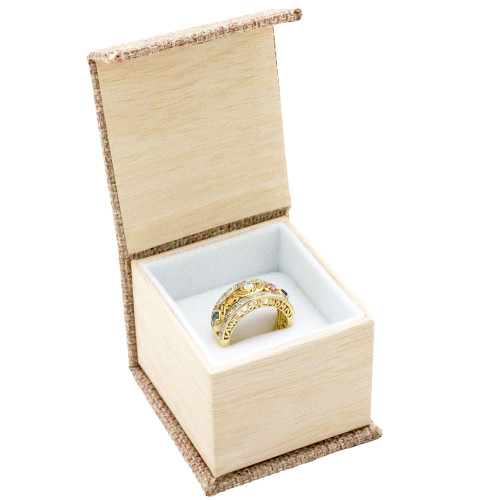 Magnetic Burlap Ring Box
