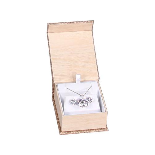 Magnetic Burlap Earring/Pendant Box